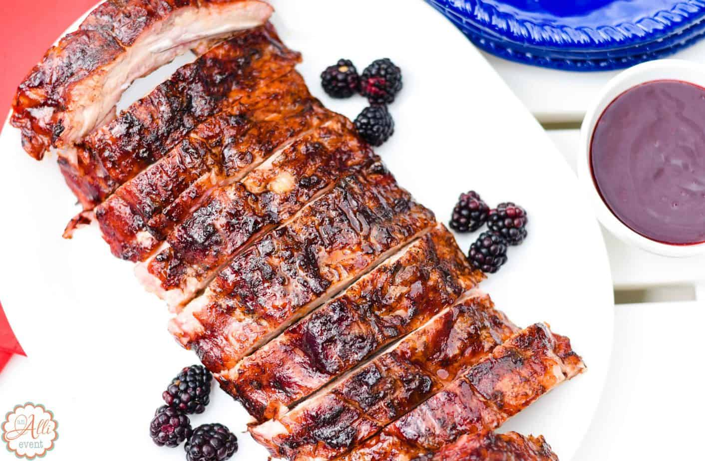 How to Make Yummy Blackberry Glazed Grilled Ribs