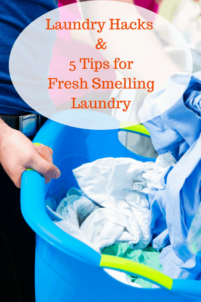 How to Have Clean Laundry That Smells Good - Does your laundry pass the smell test? Here are my favorite laundry hacks and tips for fresh smelling laundry.