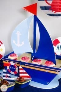 Pretty Pintastic Party and Centerpiece for Nautical Baby Shower