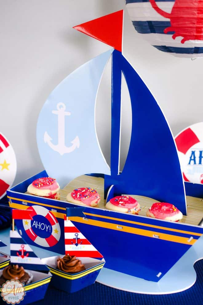 Centerpiece for Nautical Baby Shower