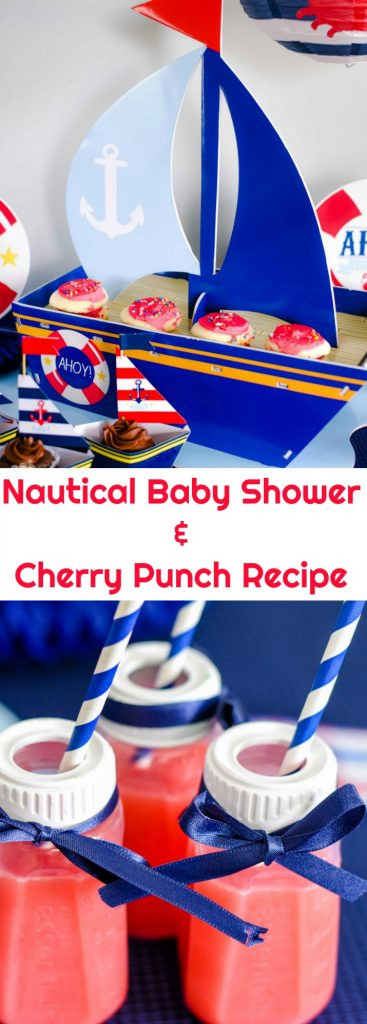 Planning a baby shower? I have lots of tips and ideas, including my favorite Cherry Punch recipe. This Nautical Baby Shower is adorable and easy to plan.