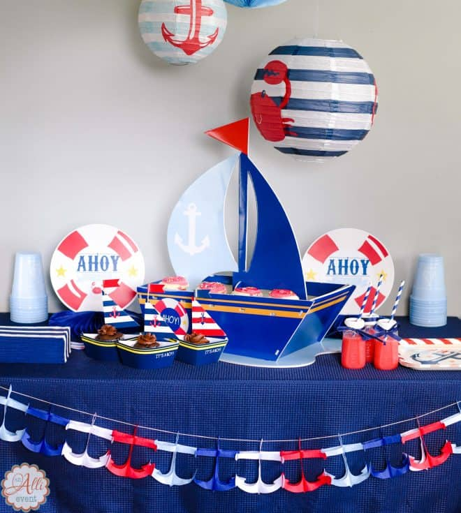 Pretty Pintastic Party 165 Nautical Baby Shower Decor