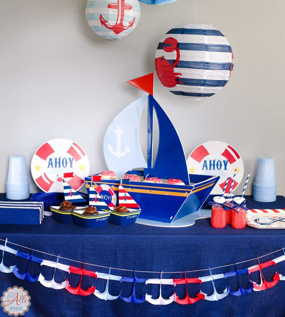 How To Host An Adorable Nautical Baby Shower Alli Event