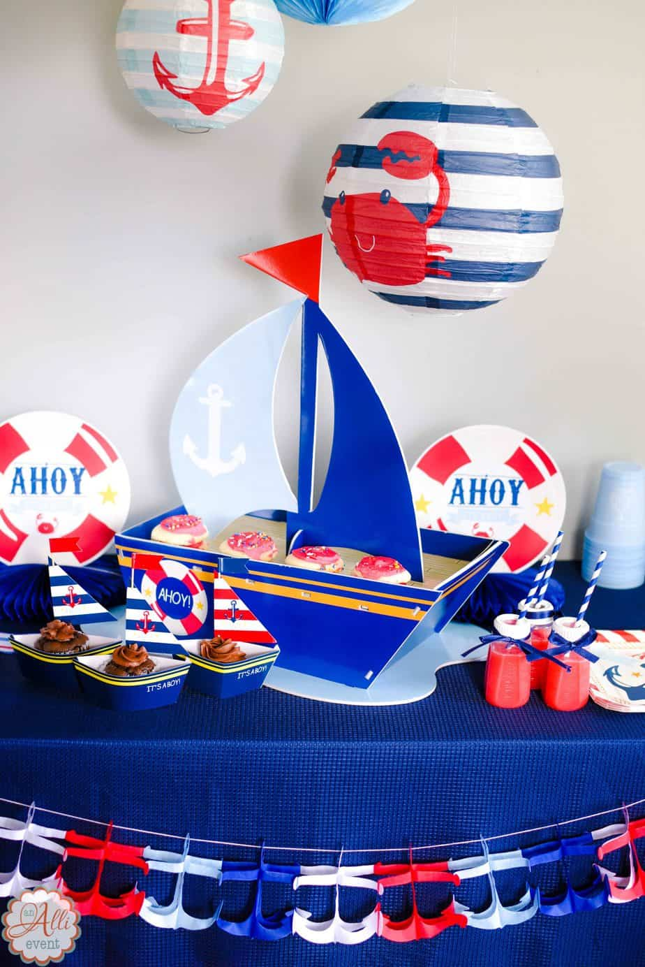 How to Host an Adorable Nautical Baby Shower - An Alli Event