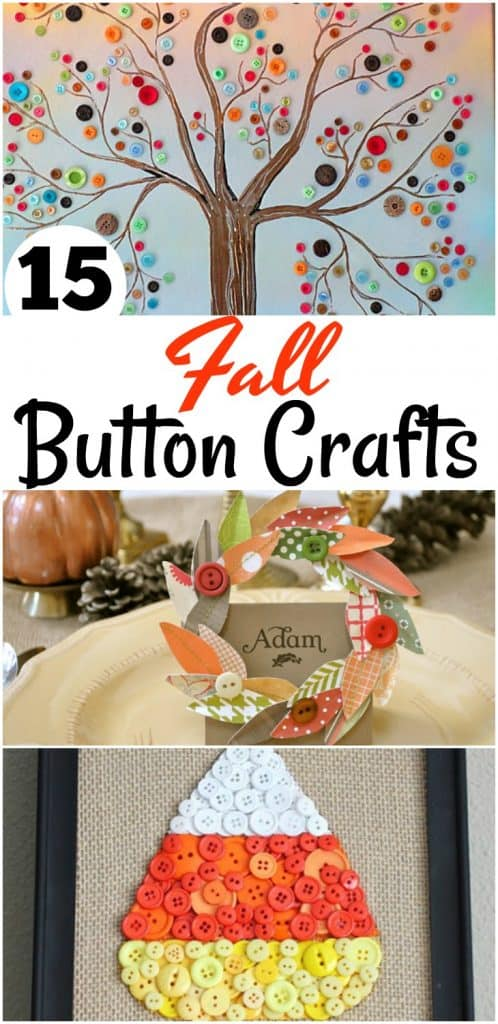 15 Fall Button Crafts