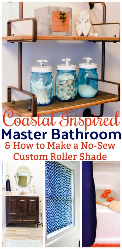I finally put the finishing touches on my master bath redo! I've included a tutorial on how to make a custom no-sew roller shade and shared my secret to a bathroom that smells as good as it looks.