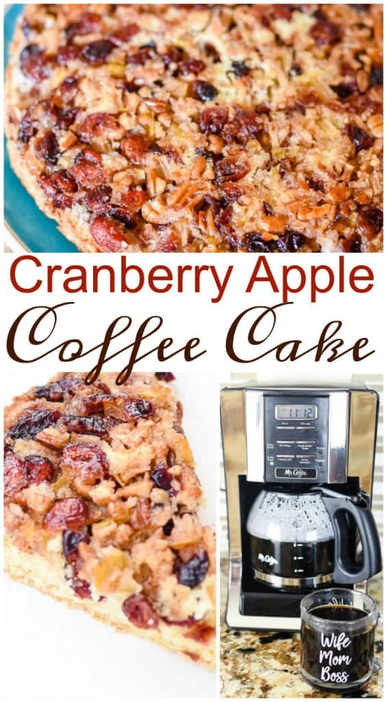 Want to know what you need for the perfect coffee break? I'm sharing my secrets to an amazing afternoon coffee break including my Cranberry Apple Coffee Cake. It's out of this world good!