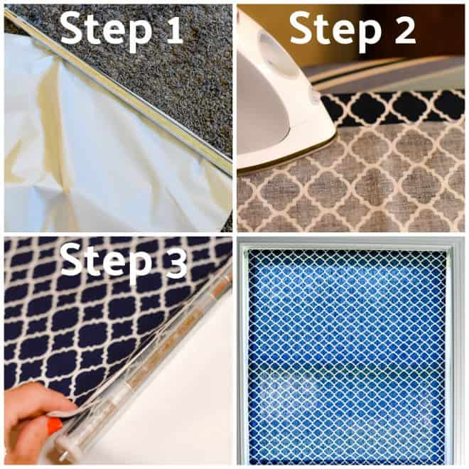 How to Make a No-Sew Custom Window Shade Coastal Inspired Bathroom