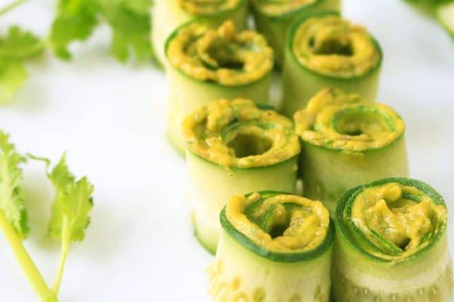 Avocado Recipes - Avocado Cucumber Rolls