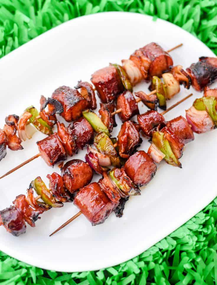 Bacon Sausage Kabobs