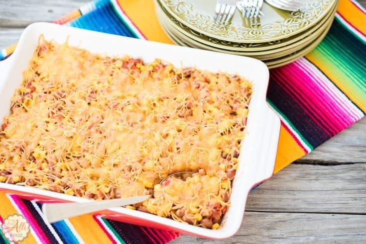 Cheesy Pinto Bean Casserole