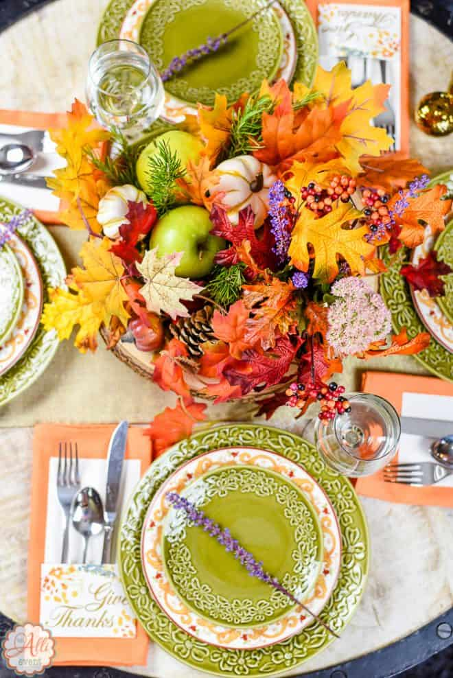 Stunning No-Cost Autumn Tablescape