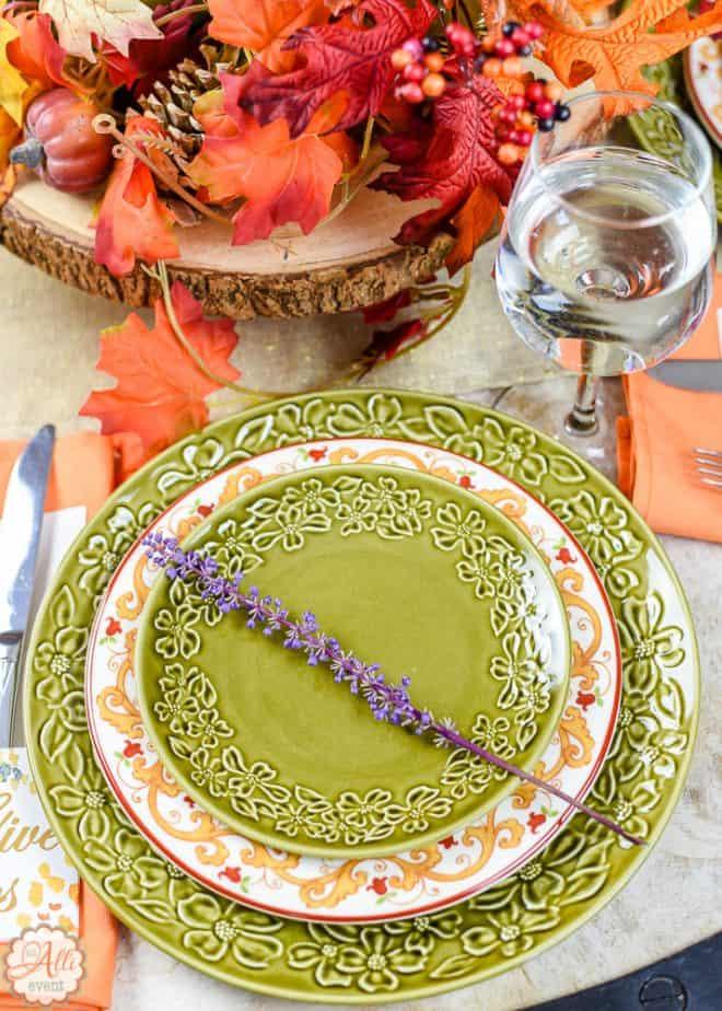 No Cost Autumn Tablescape