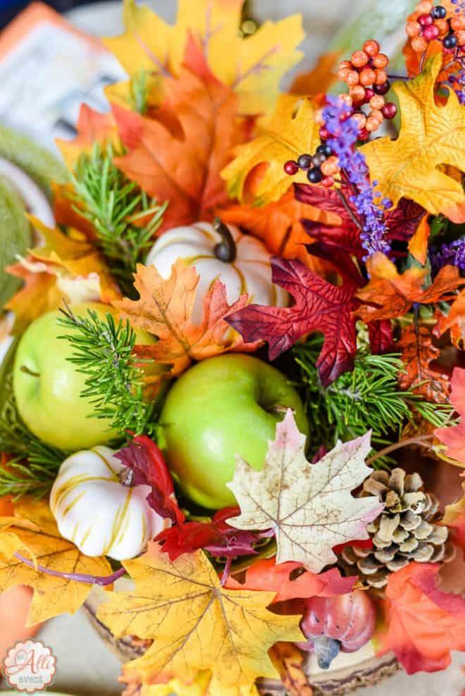 Apples - No Cost Autumn Tablescape