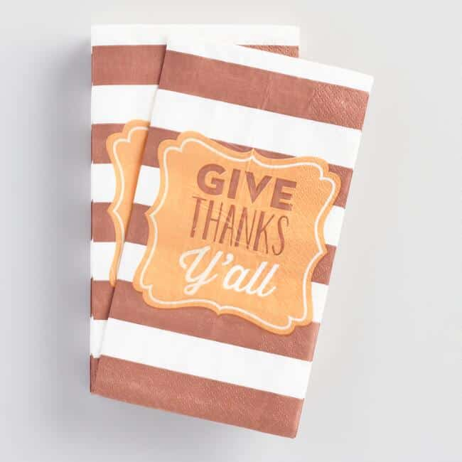 Thanksgiving Entertaining - Give Thanks Napkins