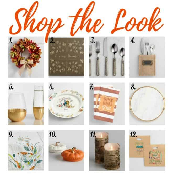 Shop the Look Thanksgiving Entertaining