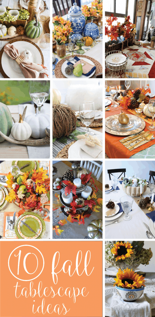 Looking for tablescape ideas for fall? How about a no-cost autumn tablescape? Check out these 10 tablescapes for fall inspiration.