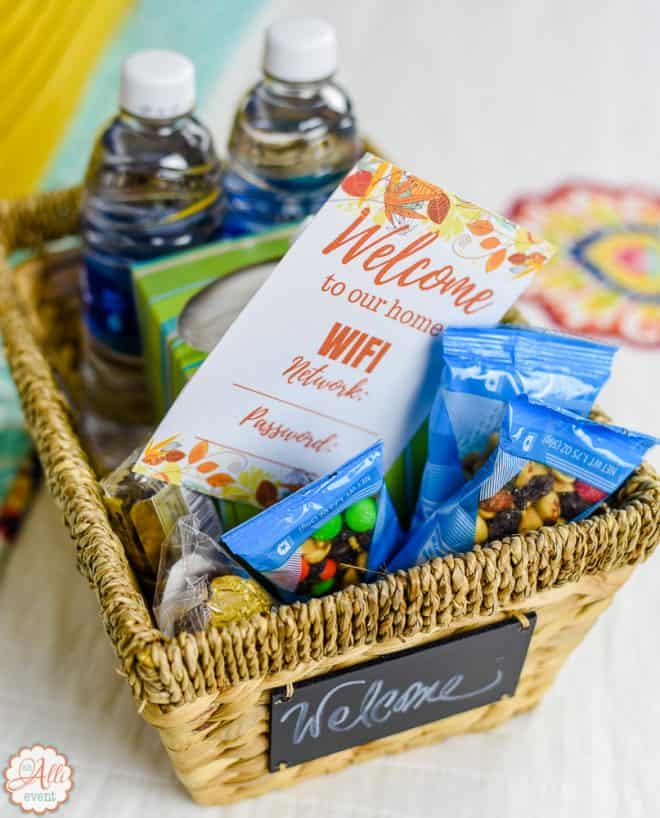 Holiday Basket for Holiday Guests