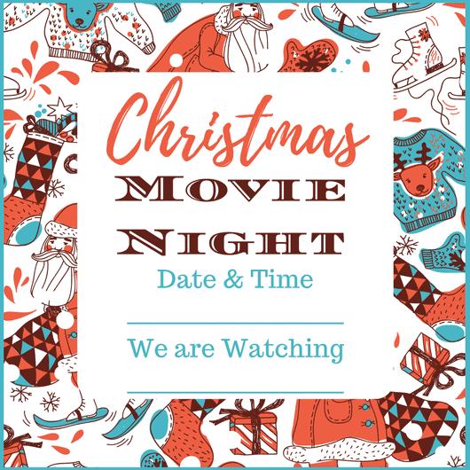 Free Printable Holiday Movie Night Invite  Movie Night Invitations Free Printable