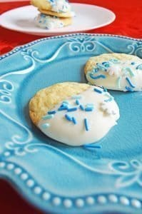 Red Velvet Heart Shaped Cookies and Snow Cookies Recipe