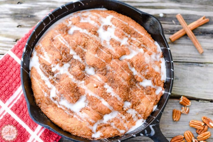 Carolina Skillet Cake is easy to make and fun to eat