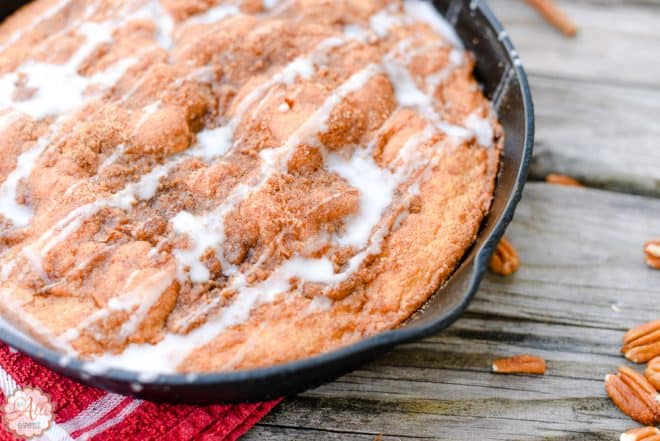 This Carolina Skillet Cake is baked in a cast iron skillet and is so delicious