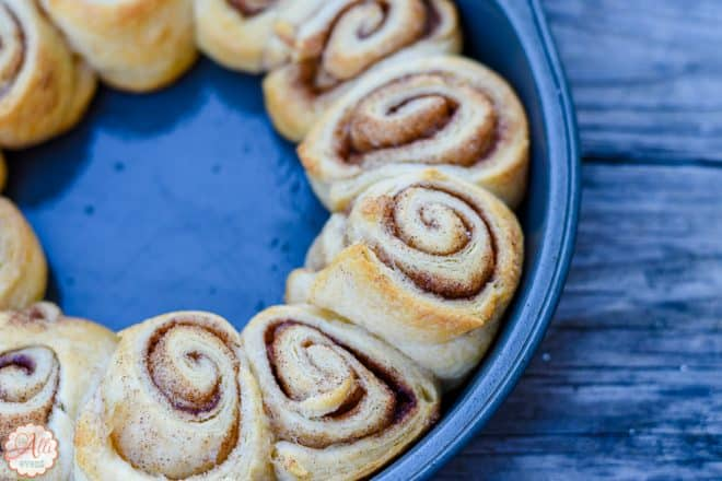 Crescent Roll Cinnamon Rolls are done in under 20 minutes
