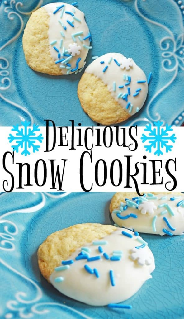 I'm wishing for snow during the holiday season! Even if it doesn't happen, these delicious Snow Cookies will help keep me in the holiday spirit!