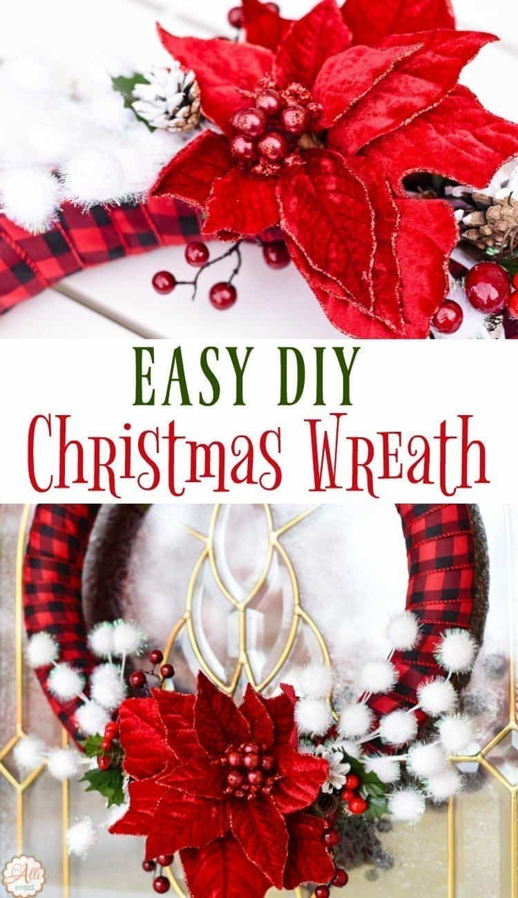 How to make an easy diy christmas wreath an alli event Simple christmas wreaths