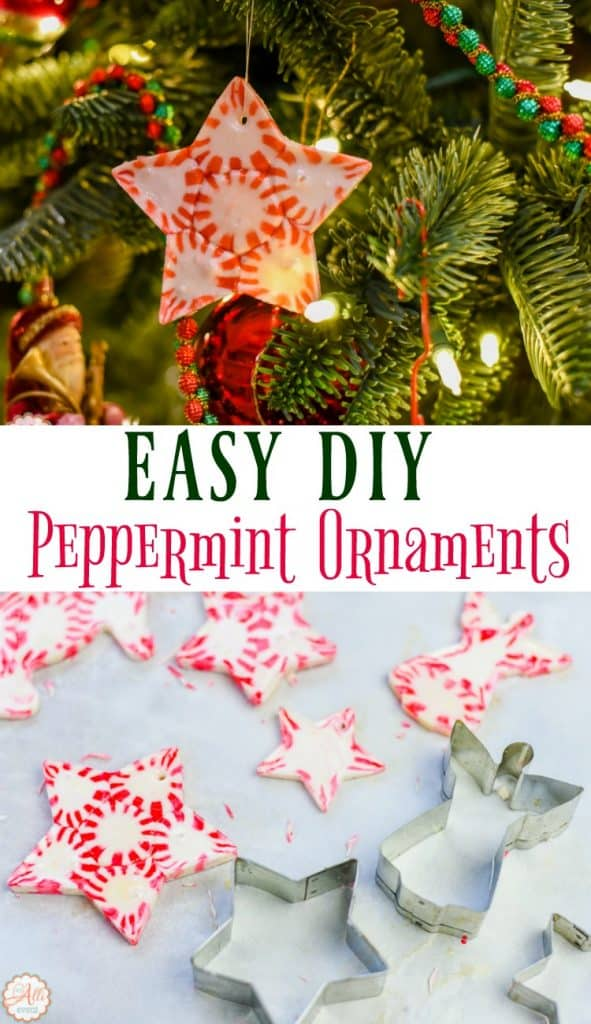 The kids will love helping you make these Easy DIY Peppermint Candy Ornaments. The grandkids and I made so many of these. I handle the baking part and they pick out the shapes and fill them with mints.