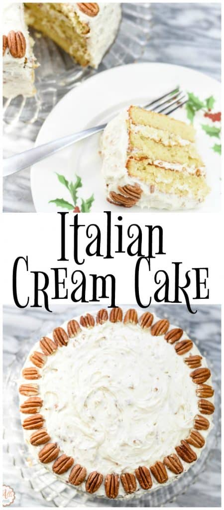 This Italian Cream Cake is my husband's favorite cake. I always serve it at special occasions and it's always a hit.