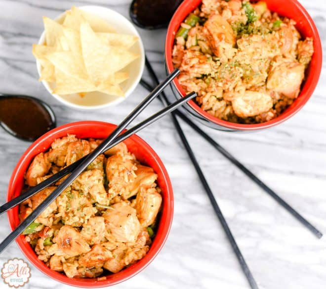 Mongolian Chicken Fried Rice