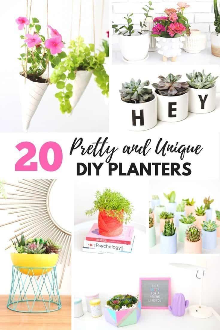 20 Unique Diy Wind Chimes: 20 Pretty And Unique DIY Planters You'll Love