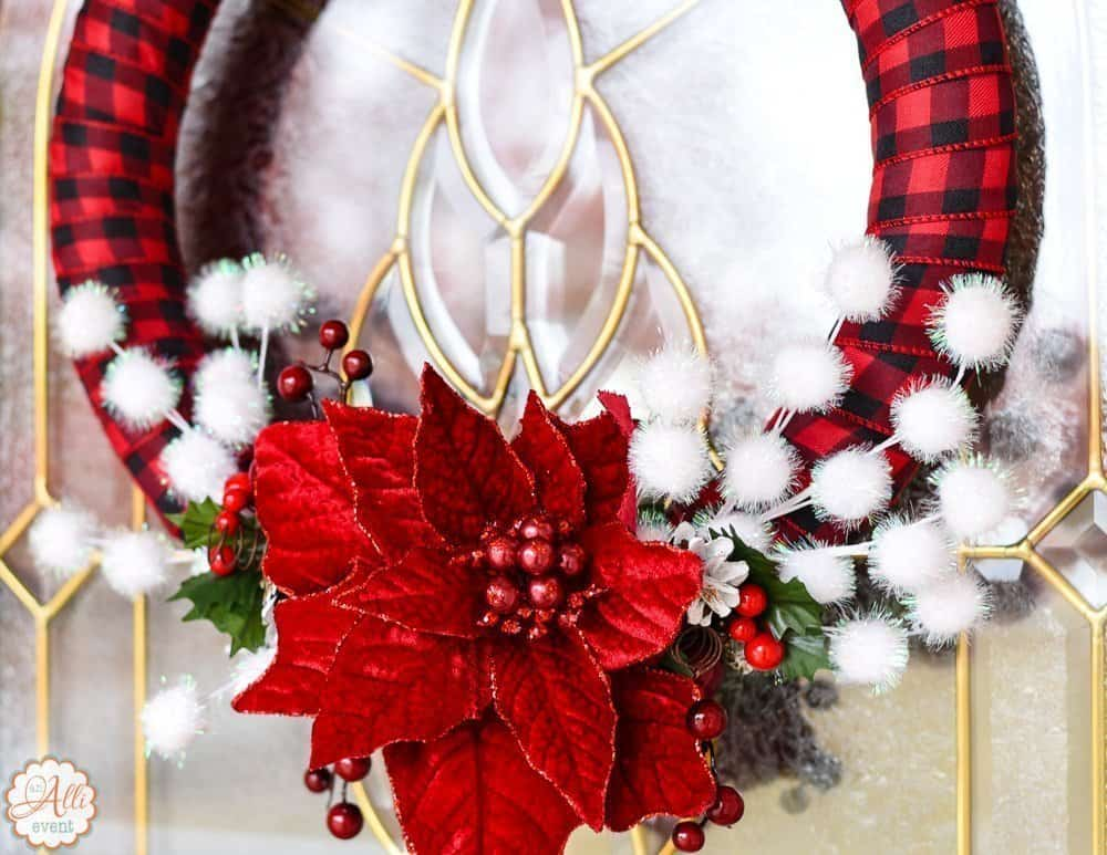 How to make an easy diy christmas wreath an alli event - Admirable christmas wreath decorating ideas to welcome the december ...