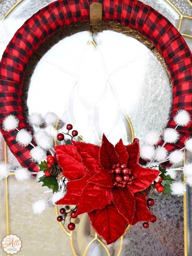 How To Make An Easy Diy Christmas Wreath An Alli Event