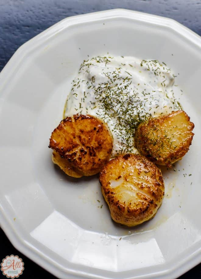 Pan Seared Scallops are easy to make at home.