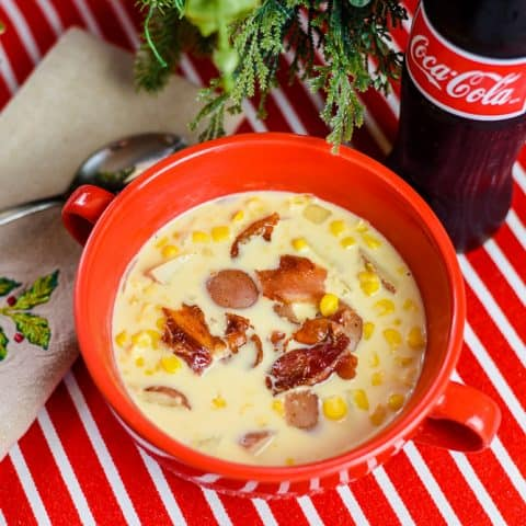 Slow Cooker Bacon-Topped Corn Chowder