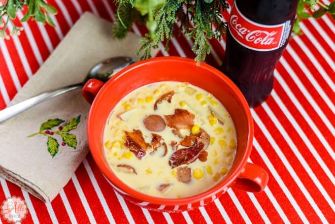 Bowl of Bacon-Topped Corn Chowder