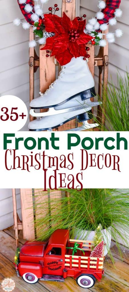 Looking for some Christmas Porch Decor inspiration? We've got 35+ Holiday Porch Ideas and lots of porch decor inspiration!