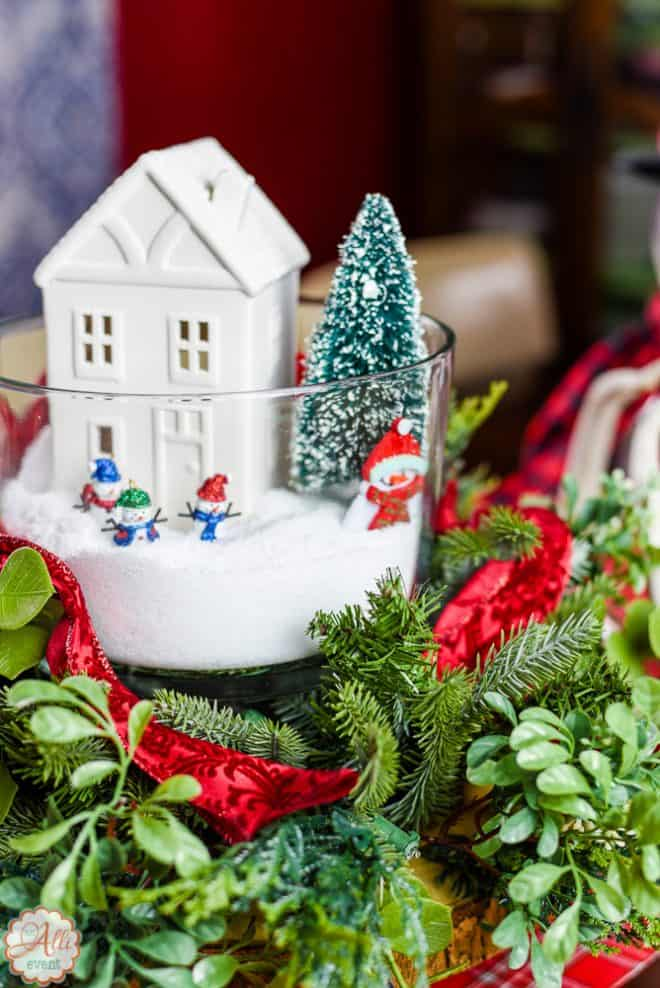 Centerpiece for Easy Wonderland Holiday Table