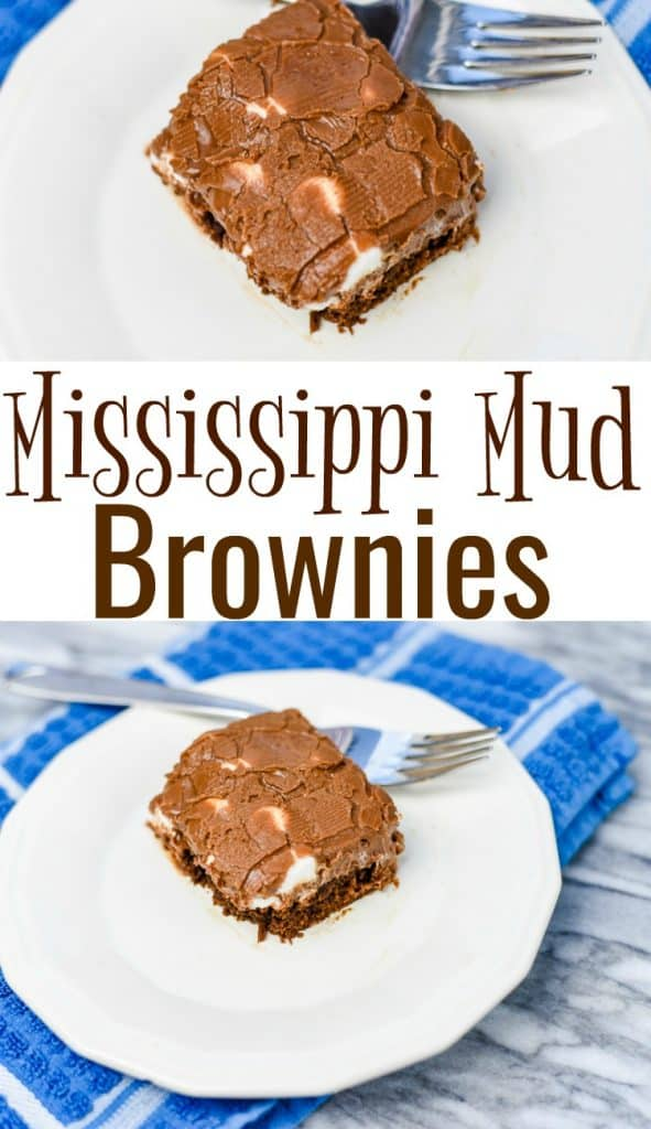 Mississippi Mud Brownies are homemade brownies, topped with a layer of marshmallows and finished with a delicious chocolate frosting. These are amazing!