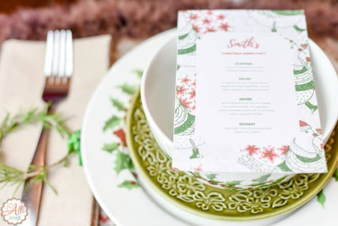 Dinner Menus and Easy Wonderland Holiday Table