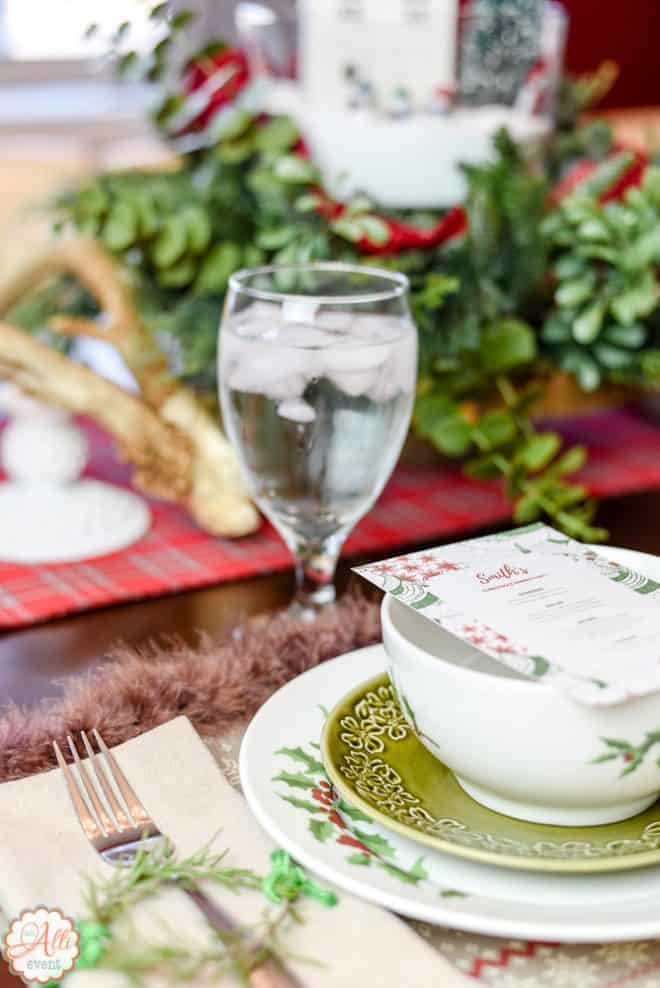 Place Setting for Easy Wonderland Holiday Table