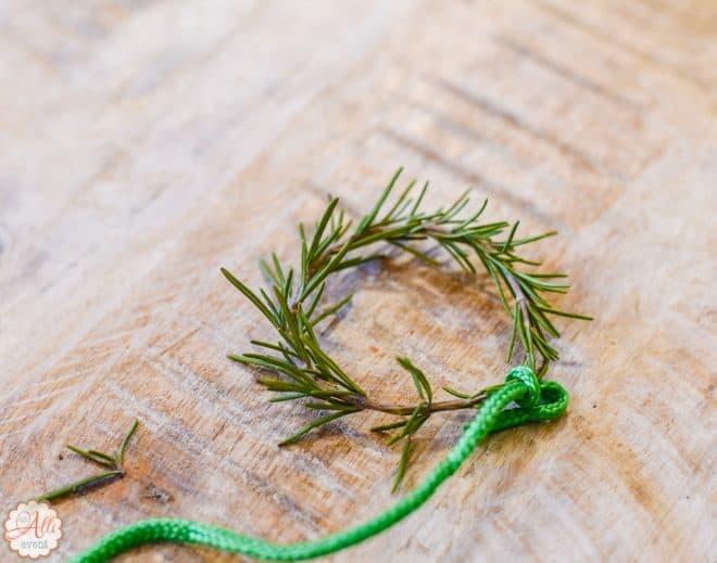 How to Make a Rosemary Wreath - Easy Wonderland Holiday Table
