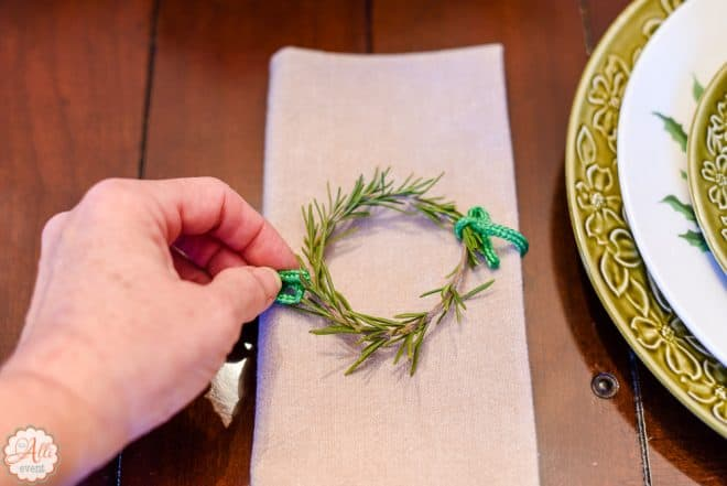 Rosemary Wreath and Easy Wonderland Holiday Table