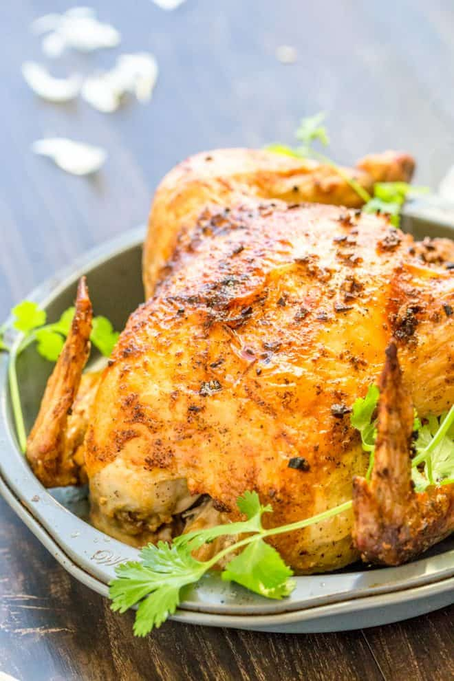 Easy Roasted Chicken with Garlic and Butter