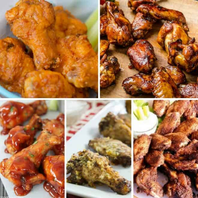 Game Day Wing Recipes Including baked and fried