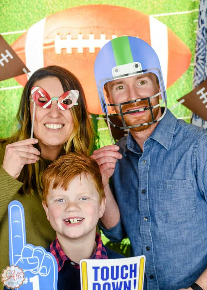 Photo Booth for Football Party