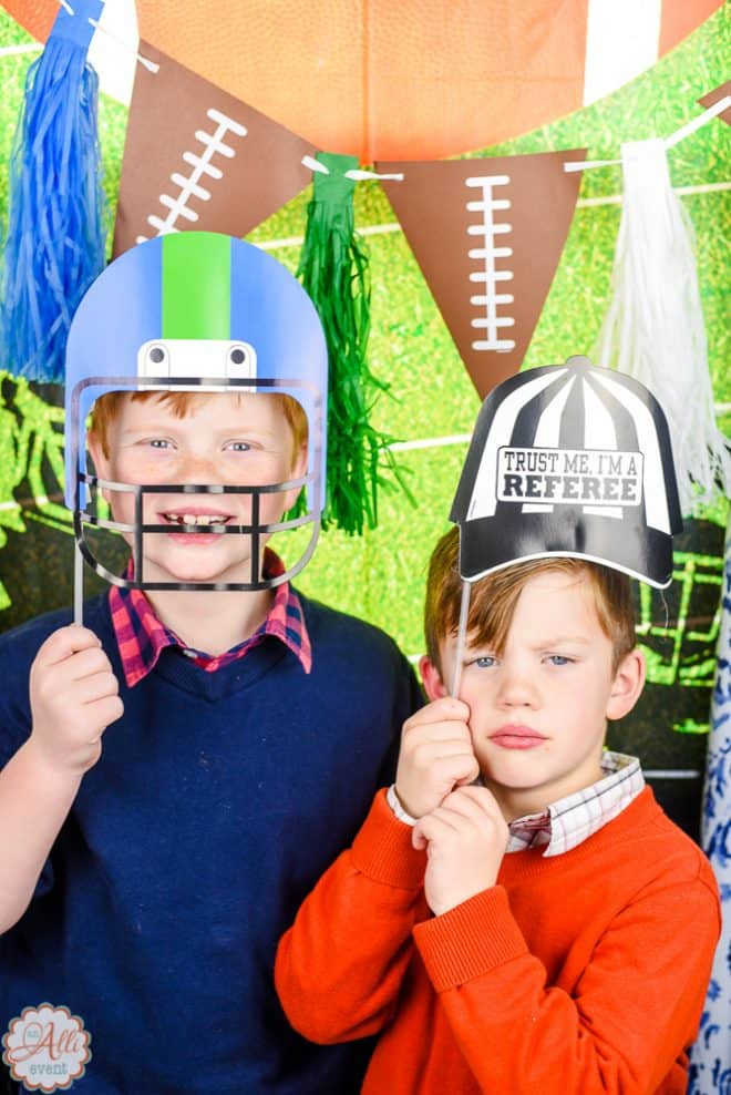 Football Party and Photo Booth Fun