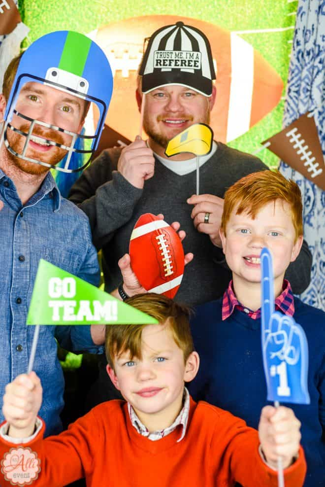 Set up a Photo Booth for Your Football Party